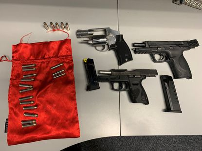 Aberdeen have charged three people with possessing stolen firearms after an incident on Liberty Avenue on Feb. 20. The following weapons were recovered in the investigation: a Smith and Wesson .40 caliber pistol, a Taurus 9mm pistol and a Smith and Wesson .357 revolver.