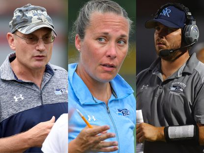 (From L to R) Girls soccer coach John Sis, field hockey coach Megan Atkinson and football coach Ed Dolch each stepped down from their positions at South River this week.