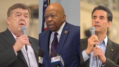 """Rep. C.A. """"Dutch"""" Ruppersberger, Rep. Elijah Cummings and Rep. John Sarbanes. All three have called upon ICE to end an alleged """"bait and switch"""" practice with immigrants to lure them into the deportation process."""