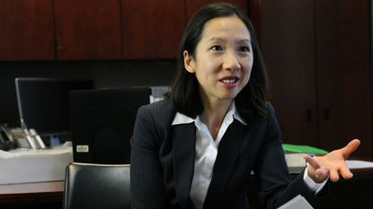 Dr. Leana Wen, health commissioner for the Baltimore City Health Department, talks about the effectiveness of contraception for public school students in a file image from 2015. Wen will be the new head of Planned Parenthood Federation of America.