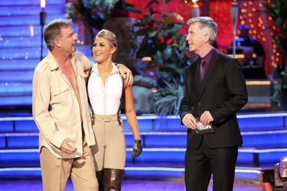 """Bill Engvall, Emma Slater and Tom Bergeron on Monday night's """"Dancing with the Stars."""""""