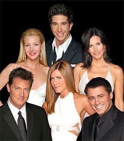 "The ""Friends"" cast (clockwise from left), Matthew Perry, Lisa Kudrow, David Schwimmer, Courteney Cox Arquette, Matt LeBlanc and Jennifer Aniston."