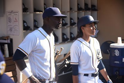 """Mo McRae and Kylie Bunbury in """"Pitch."""""""