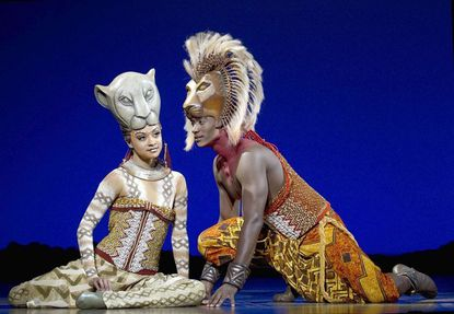 """Syndee Winters and Jelani Remy play the mature Nala and Simba in """"The Lion King,"""" now back on stage, live at the Hippodrome Theatre through Jan. 8."""