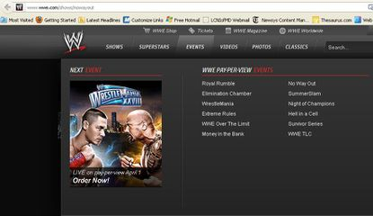 Here's a screen shot of WWE.com, where it shows No Way Out as a possible July PPV.