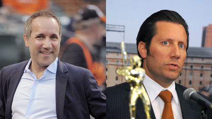 Peter Angelos' sons John, left, and Louis Angelos, have controlled the Orioles for at least the last year as their father's health has declined.