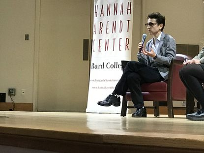 Masha Gessen speaks at the Crises of Democracy conference at Bard College.