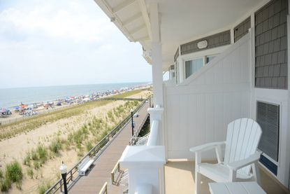 Many of the hotel suites overlook the Atlantic Oceanand the Bethany Beach boardwalk.