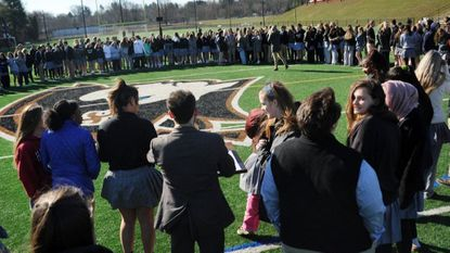 Students at The John Carroll School in Bel Air held the Prayer Against Non-Violence in Schools service earlier this year after 17 students and staff were shot to death at Margery Stoneman Douglas High School in Florida earlier this year.