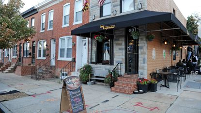The exterior in 2014 of Riverside's Bar Liquorice, which was recently named the best place to eat in Baltimore based on Yelp reviews.