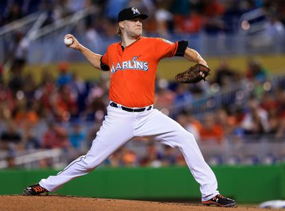 MIAMI, FL - JULY 31: Andrew Cashner #48 of the Miami Marlins pitches during the first inning of the game against the St. Louis Cardinals at Marlins Park on July 31, 2016 in Miami, Florida. (Photo by Rob Foldy/Getty Images) ** OUTS - ELSENT, FPG, CM - OUTS * NM, PH, VA if sourced by CT, LA or MoD **