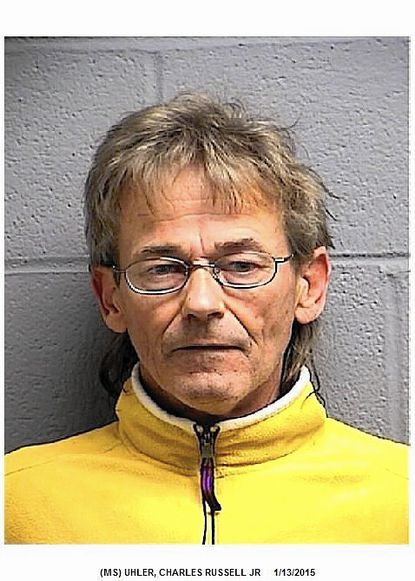 """Charles Russell Uhler is accused of growing marijuana and related offenses after police say they found more than 1,200 plants being cultivated both on his property and in a nearby cornfield.<a href=""""http://bit.ly/1B6wSvl"""">Full story</a>"""