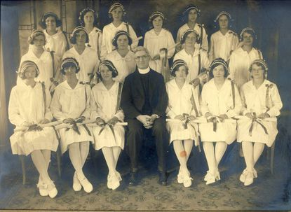 Institute of Notre Dame, which recently announced it was closing, graduating class of 1933.