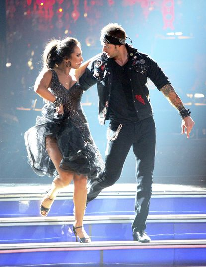 """Cheryl Burke and William Levy dance during Rock Week on """"Dancing with the Stars."""" CHERYL BURKE, WILLIAM LEVY"""