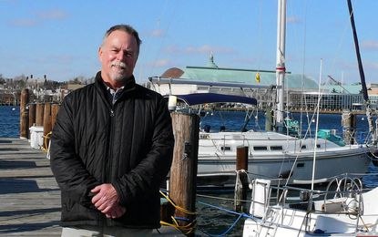 Doug Wilson, a retired NOAA oceanographer, was honored for his buoy program.