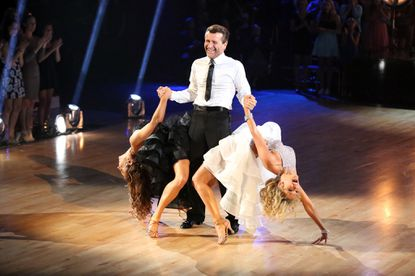 Robert Herjavec's slick dance moves weren't enough to save him from elimination on the season's first results show.