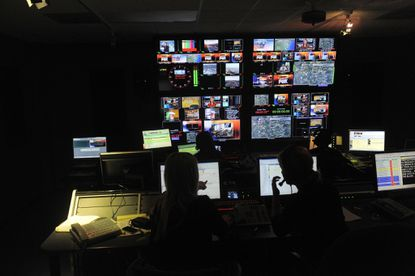 WBFF/Fox 45 control room, pictured during a 2010 newscast.