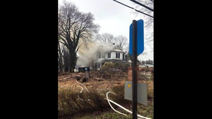 Firefighters battled a two-alarm blaze at a dwelling in Randallstown Thursday afternoon, a spokeswoman said. The house fire is in the 10500 block of Liberty Road.