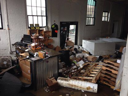 Flooding devastated Nepenthe Homebrew in Woodberry.