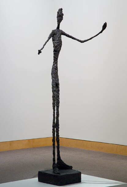 Finding a sense of isolation and anxiety in Alberto Giacometti's 'Man Pointing' at the BMA