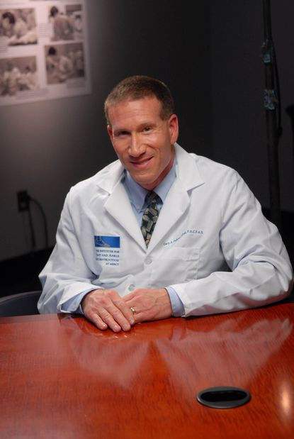 Dr. Gary Pichney, podiatric surgeon at the Institute for Foot and Ankle Reconstruction at Mercy Medical Center.