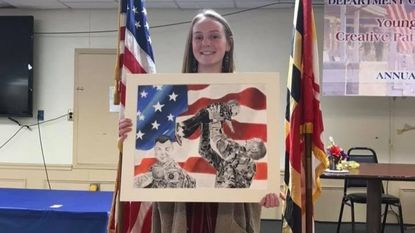 Kylie Wagner from Aberdeen VFW Post 10028 was announced as the first-place winner of the Young American Patriotic Arts Contest at the Awards Banquet April 28 at the VFW Post 8185 in Port Deposit.
