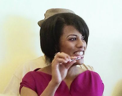 Mayor Stephanie Rawlings-Blake came to The Charmery on Wednesday, Oct. 2 to promote Hampden's new ice cream parlor as a success story of the city's fledgling micro-loan program for small businesses.