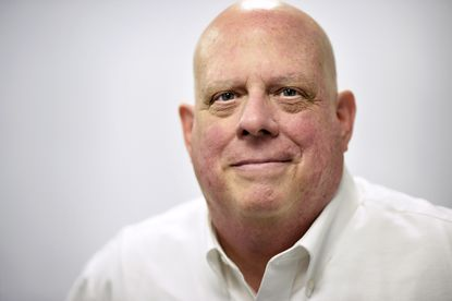 Maryland Gov. Larry Hogan says he gains strength from others battling cancer.