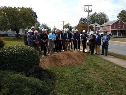 The Aberdeen Fire Department officially broke ground Monday on the renovation and expansion of its main fire station on North Rogers Street. About 60 people attended the ceremony.
