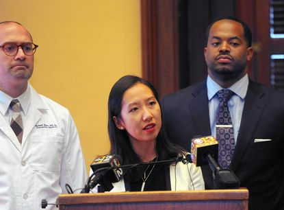 Baltimore city Health Commissioner Dr. Leana Wen at a news conference at City Hall in January.