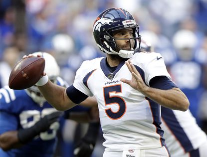 Former Ravens quarterback Joe Flacco played last season with the Denver Broncos before getting sidelined by a neck injury. He signed earlier this month with the New York Jets.