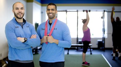 Co-owners Mark Covington (left) and Haaris Majid recently opened a Columbia gym called Progressive Athletics.