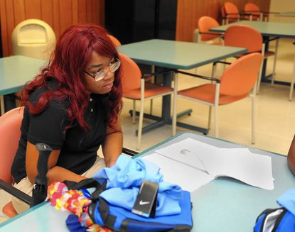 Topaz Crowder, is one of seven Baltimore area youth who will be working for the FutureCare Homewood health care facility.