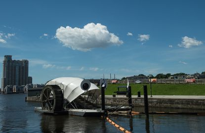 View of the Inner Harbor Water Wheel, also known as Mr. Trash Wheel. Maryland needs a trash campaign to clean up the entire state.