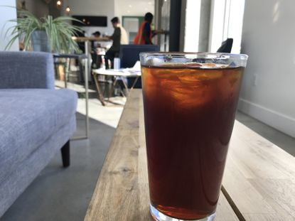 Iced coffee at Milk and Honey Market