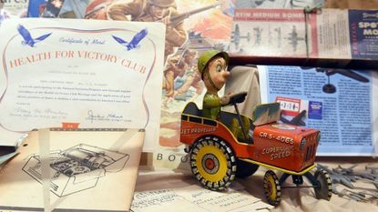 """A variety of items pertaining to daily life during World War II are displayed in the new exhibit """"WWII impacts Hometown"""" at Taneytown History Museum. The museum opens for the season on April 7."""