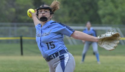 Howard pitcher Sam Hobert pitched a complete-game four-hitter in the Lions' 6-1 victory over Catonsville in the Class 4A North Section I softball semifinals.