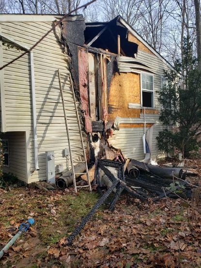 The Office of the State Fire Marshal said a malfunctioning wood stove caused a fire at a Westminster home in the 4500 block of Wilders Run Road on Christmas morning.