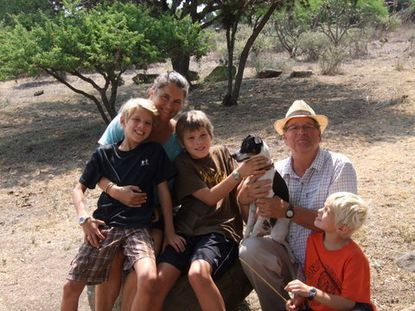The Hillers family - Bo, Ann, Redding, Nacho (the dog), Sam and Mason, traveled from Baltimore to Mexico's San Miguel de Allende for a two-year sabbatical that has turned into four years.