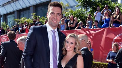 Ravens quarterback Joe Flacco, left, and his wife, Dana, welcomed their third child Tuesday night.