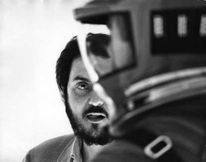 "Kubrick on the set of ""2001: A Space Odyssey"""
