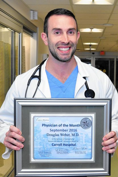 Carroll Hospital September Physician of the Month, Douglas Weber, M.D., emergency medicine - Original Credit: Submitted Photo