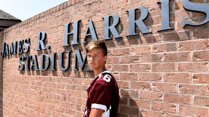 Clay Harris, is a kicker on the Havre de Grace High School football team. The James R. Harris Stadium is named for his grandfather, a former player and coach. His father also played football for the school.