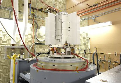 A roughly 100-pound, 2-foot-tall nuclear generator, designed and manufactured by Teledyne Energy Systems in Hunt Valley, can convert Plutonium into energy to heat the Mars 2020 spacecraft and power the Perseverance rover as it scours the Red Planet's Jezero Crater for signs of ancient life. (Courtesy of Idaho National Laboratory)