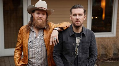 Brothers Osborne (John, left, and TJ) pose in Nashville, Tenn., earlier this month. The country duo originally from Deale is once again nominated for best country duo/group performance at the Grammys.