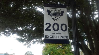 Banners are up on many of the Main Street lampposts recognizing the 200th anniversary of Bel Air High School. The school has several events planned through December to commemorate the anniversary.