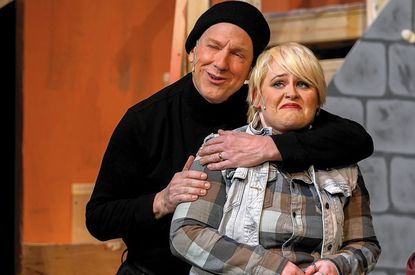 "Don Patterson and Parker Bailey-Steven in a scene from ""Noises Off."""