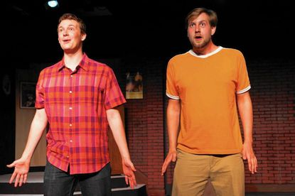 """Owen O'Leary, left, and Izaak Michael in """"[title of show]"""" at Fells Point Corner Theatre."""