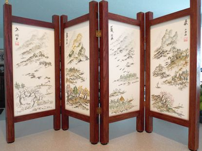 Susan Bloom will present four panel Chinese screens capturing each of the four seasons.