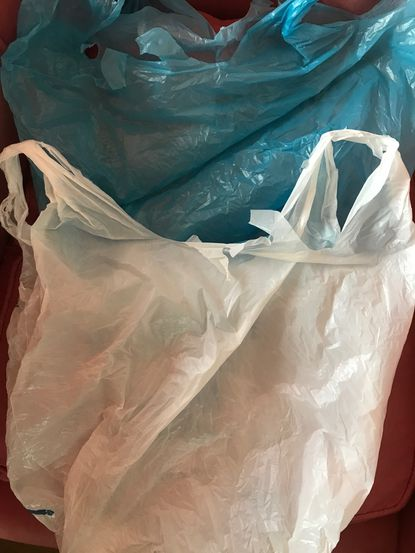 The Baltimore City Council is seeking to ban platsic bags like these.